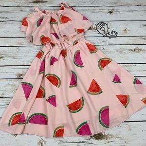 Other - Maya Fashion Dress Watermelon Cold Shoulder